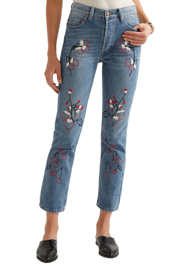 Sweet Jam embroidered high-rise straight-leg jeans | BLISS AND MISCHIEF | Sale  up to 70% off | THE OUTNET
