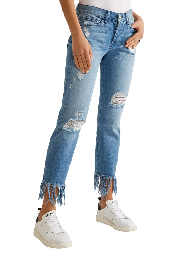 WM3 Crop Fringe distressed mid-rise straight-leg jeans   3x1   Sale up to 70%  off   THE OUTNET