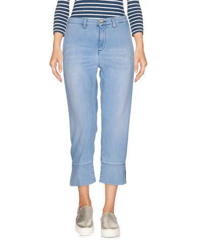 Фото - Джинсовые брюки-капри от JIJIL LE BLEU синего цвета