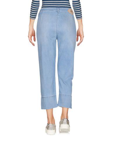 Фото 2 - Джинсовые брюки-капри от JIJIL LE BLEU синего цвета