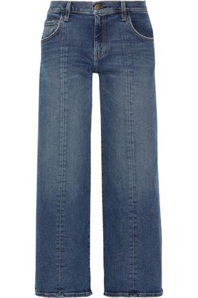 CURRENT/ELLIOTT The Wide-Leg Crop mid-rise jeans