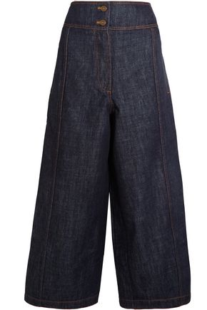 KENZO Cropped high-rise wide-leg jeans