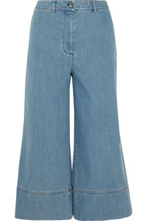 MICHAEL KORS COLLECTION Cropped high-rise wide-leg jeans