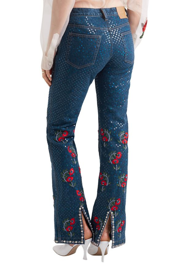Voyage embellished embroidered mid-rise straight-leg jeans | ASHISH | Sale  up to 70% off | THE OUTNET