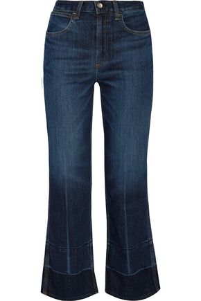 RAG & BONE Lou cropped high-rise straight-leg jeans