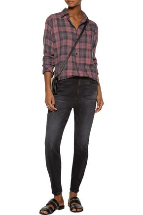 CURRENT/ELLIOTT Stiletto faded high-rise skinny jeans