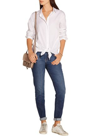 CURRENT/ELLIOTT High-rise slim boyfriend jeans