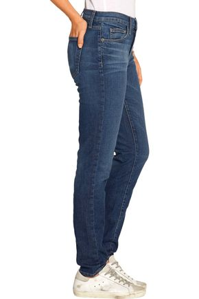 CURRENT/ELLIOTT The Mamacita high-rise slim boyfriend jeans