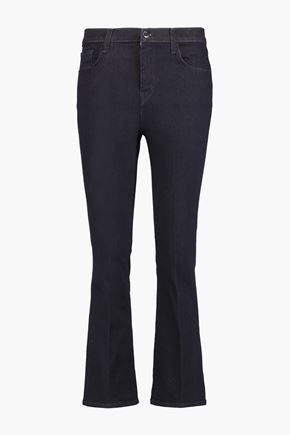 J BRAND Helena cropped mid-rise bootcut jeans