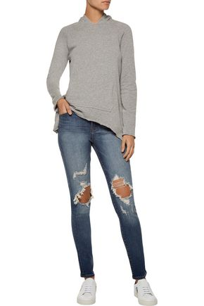 J BRAND Maria high-rise distressed skinny jeans