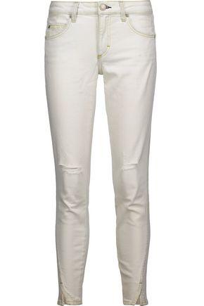 AMO Twist distressed mid-rise skinny jeans