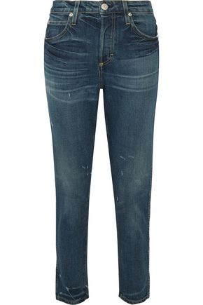 AMO Ace cropped high-rise tapered jeans