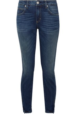 AMO Twist Zip faded mid-rise skinny jeans