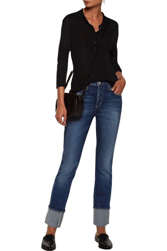 Darlin high-rise distressed straight-leg jeans | AMO | Sale up to 70% off |  THE OUTNET