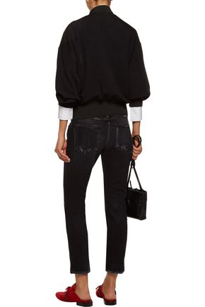 AMO Kate cropped mid-rise slim-leg jeans