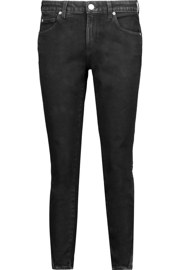 Twist Zip cropped mid-rise skinny jeans | AMO | Sale up to 70% off | THE  OUTNET