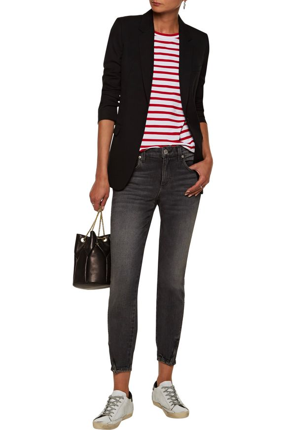 Twist Zip mid-rise cropped distressed skinny jeans | AMO | Sale up to 70%  off | THE OUTNET