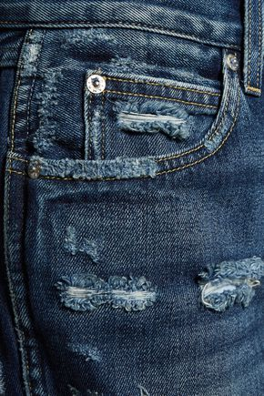 AMO Tomboy cropped distressed boyfriend jeans