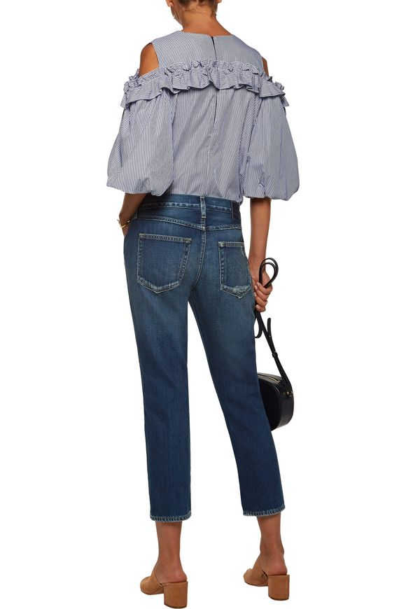 Tomboy cropped distressed boyfriend jeans | AMO | Sale up to 70% off | THE  OUTNET