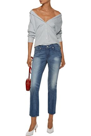 AMO Kate mid-rise cropped straight-leg jeans