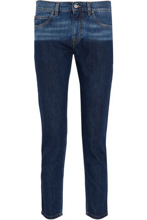 VIVIENNE WESTWOOD ANGLOMANIA Billy two-toned low-rise skinny jeans
