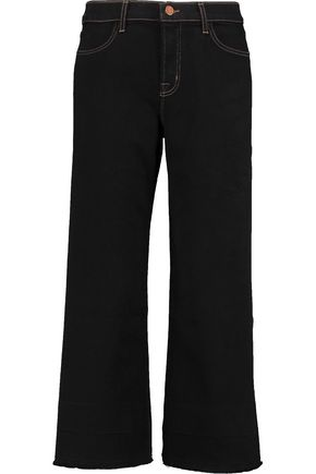 J BRAND Liza cropped high-rise bootcut jeans