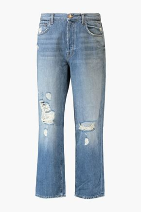J BRAND Ivy cropped distressed jeans