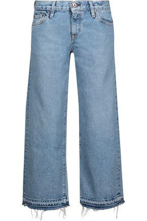 SIMON MILLER Kara mid-rise cropped wide-leg jeans