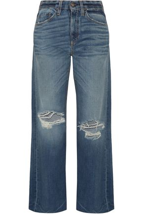 SIMON MILLER Basin high-rise distressed wide-leg jeans