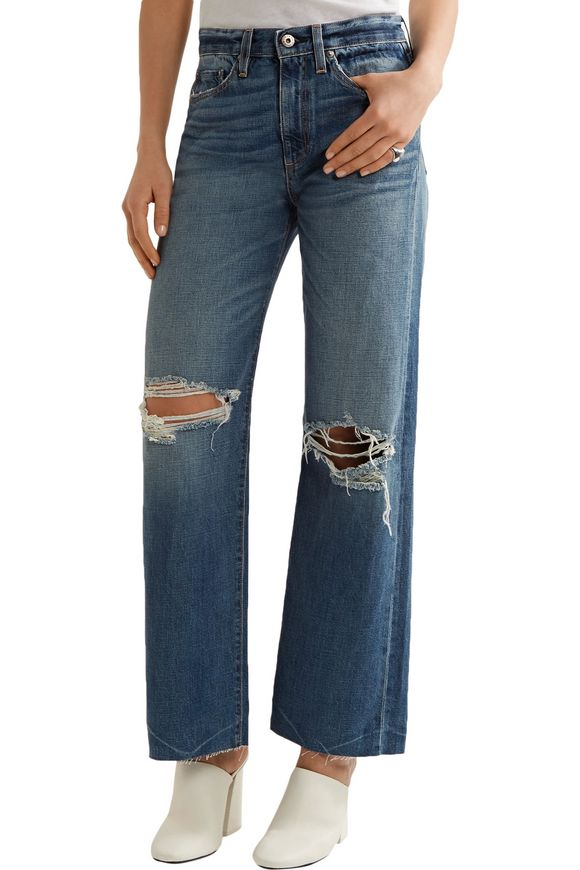 Basin high-rise distressed wide-leg jeans   SIMON MILLER   Sale up to 70%  off   THE OUTNET