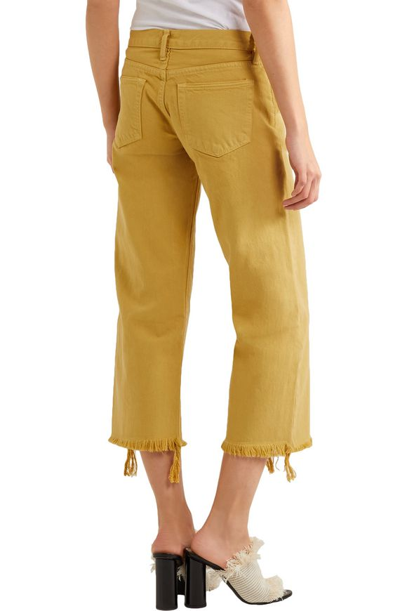 Varra low-rise cropped frayed wide-leg jeans | SIMON MILLER | Sale up to 70%  off | THE OUTNET