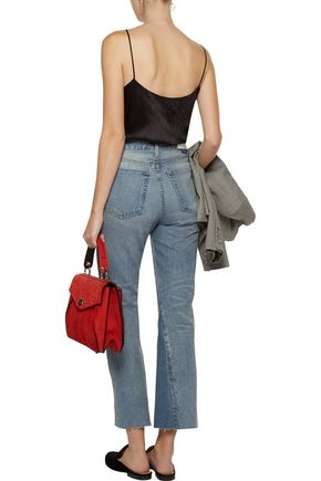 RE/DONE Leandra mid-rise cropped bootcut jeans