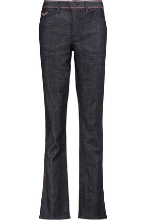 TORY BURCH Starflower mid-rise straight-leg jeans