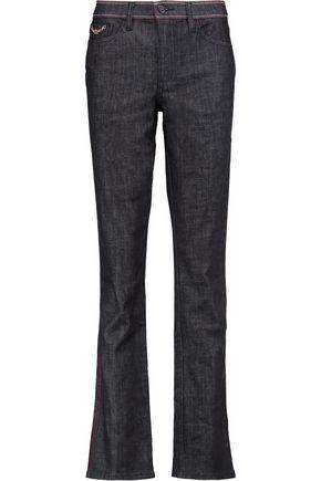 TORY BURCH Starflower mid-rise straight-leg jeans