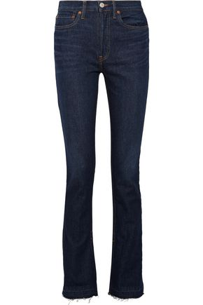 RE/DONE The Elsa high-rise frayed flared jeans