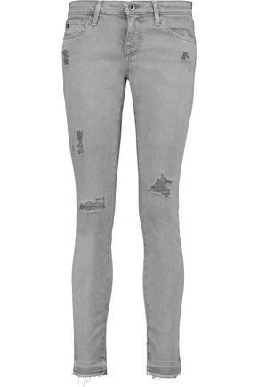AG ADRIANO GOLDSCHMIED The Legging Ankle mid-rise distressed skinny jeans