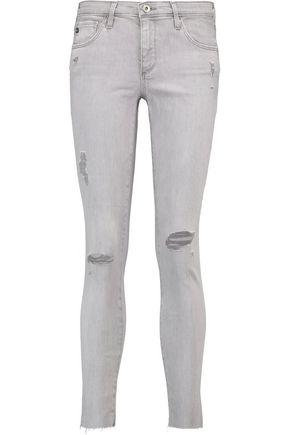 AG Jeans The Legging Ankle mid-rise distressed skinny jeans