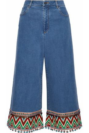 ALICE + OLIVIA Embellished flared jeans