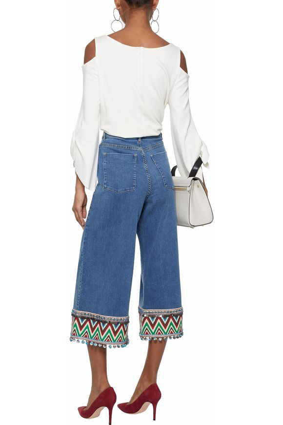 Embellished flared jeans | ALICE + OLIVIA | Sale up to 70% off | THE OUTNET