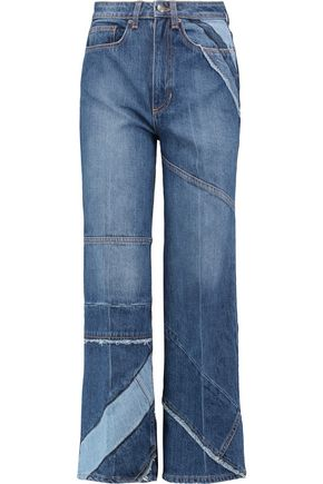 MARC BY MARC JACOBS High-rise patchwork flared jeans