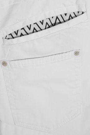 VINTI ANDREWS Lace-paneled mid-rise skinny jeans