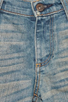 SIMON MILLER Highland distressed low-rise slim-leg jeans