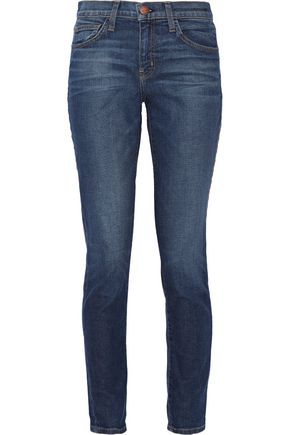 CURRENT/ELLIOTT The Mamacita high-rise slim boyfriend jeans