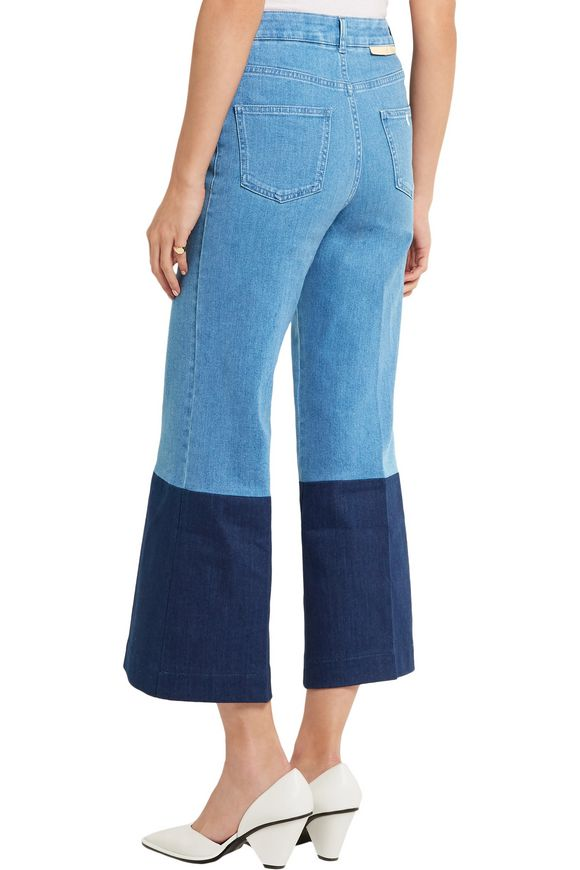 Cropped high-rise wide-leg jeans   STELLA McCARTNEY   Sale up to 70% off    THE OUTNET
