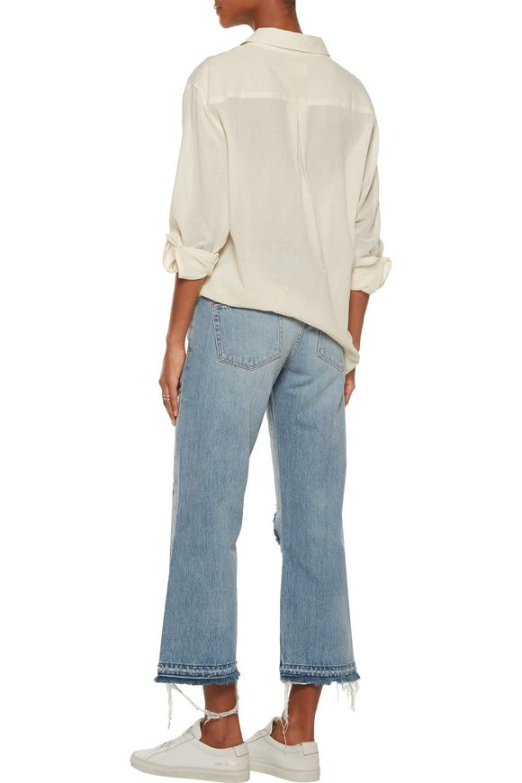Yerma cropped distressed boyfriend jeans | SIMON MILLER | Sale up to 70% off  | THE OUTNET