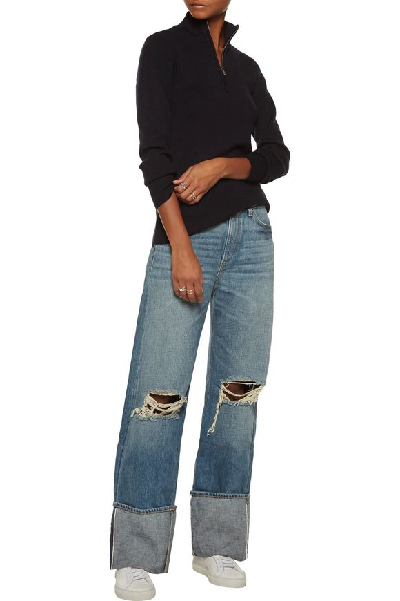 Arapo mid-rise distressed straight-leg jeans | SIMON MILLER | Sale up to 70%  off | THE OUTNET