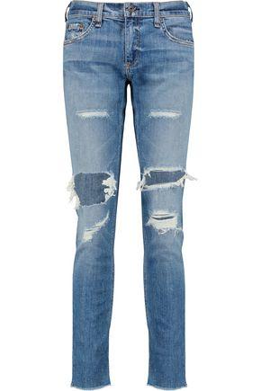 RAG & BONE Dre distressed low-rise slim-leg jeans