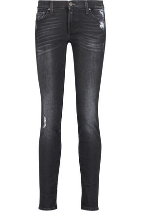 7 FOR ALL MANKIND The Skinny mid-rise distressed jeans