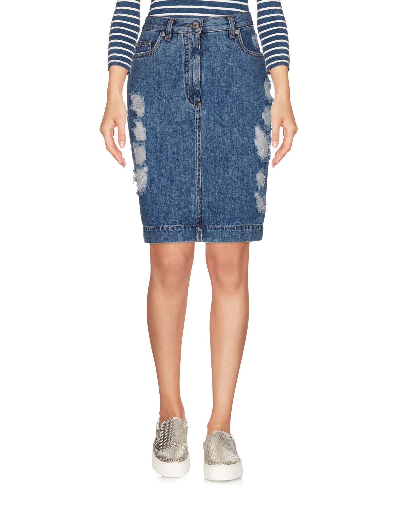 MOSCHINO COUTURE Джинсовая юбка moschino couture сандалии