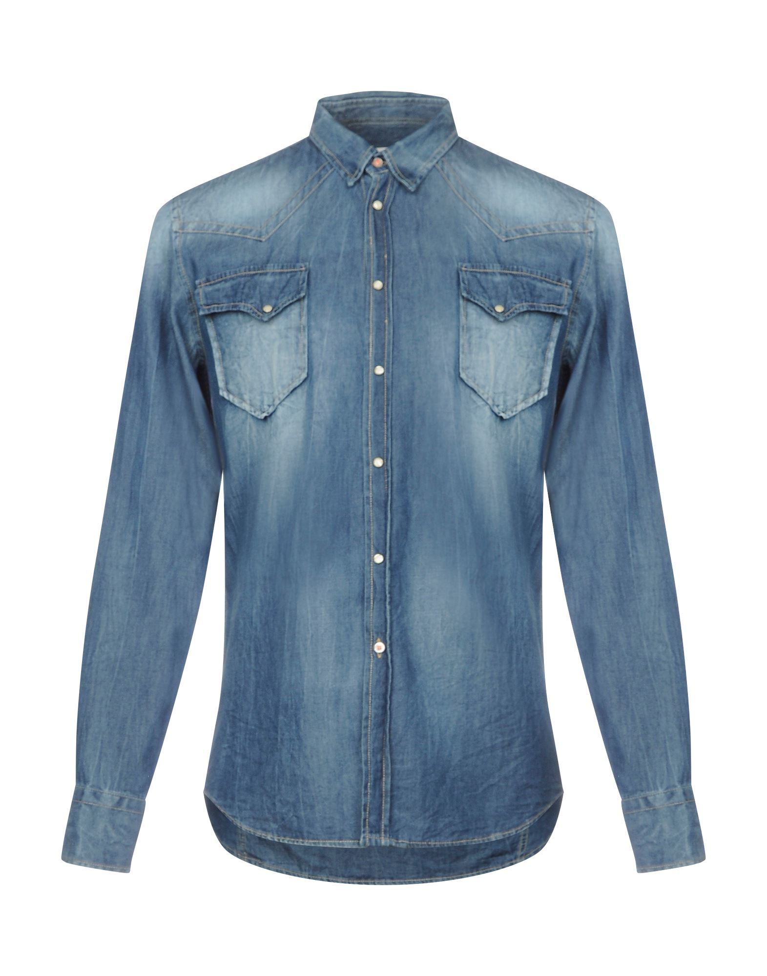 《セール開催中》PMDS PREMIUM MOOD DENIM SUPERIOR メンズ デニムシャツ ブルー XXL コットン 100%
